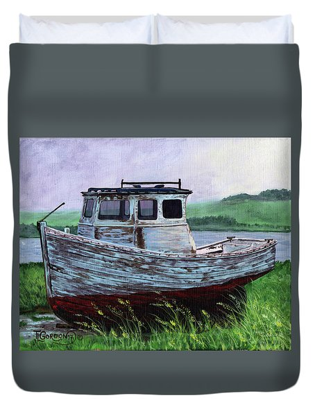 Beached At Bay Of Ayre Duvet Cover