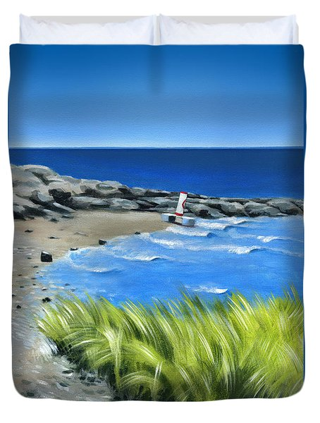 Beached Buoy Duvet Cover