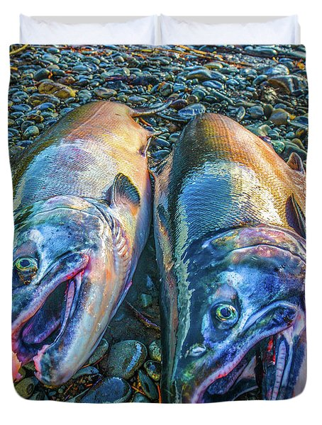 Beached Coho Duvet Cover