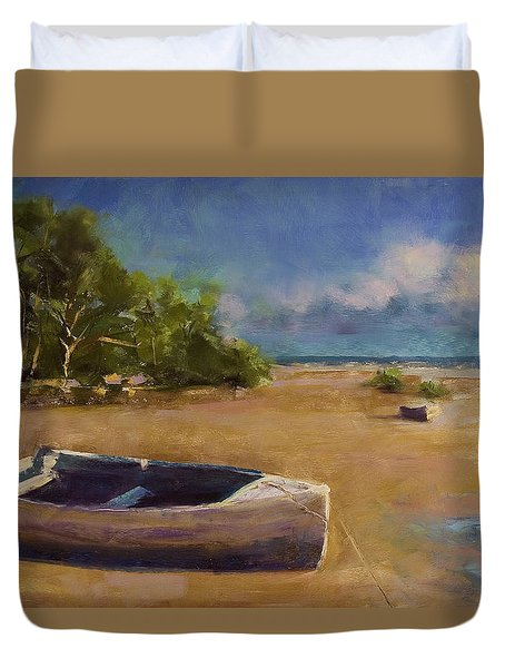 Beached Duvet Cover by David Patterson