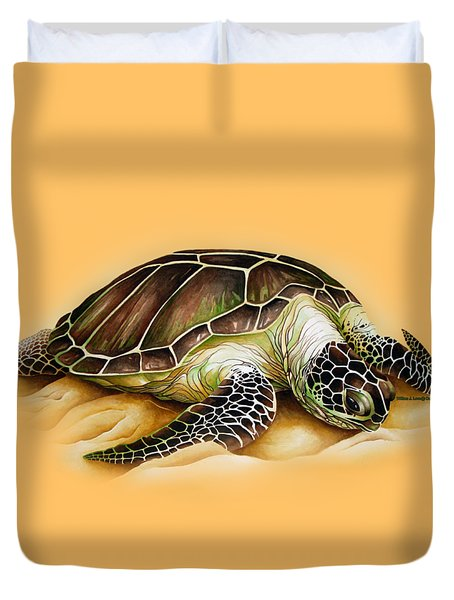 Duvet Cover featuring the digital art Beached For Promo Items by William Love