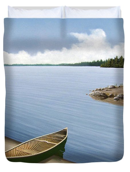 Beached In Ontario Duvet Cover by Kenneth M  Kirsch
