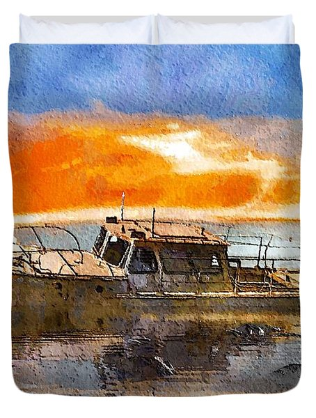 Beached Wreck Duvet Cover