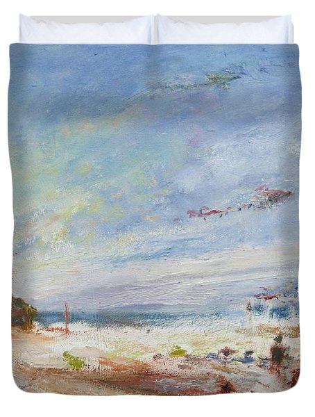 Beachy Day - Impressionist Painting - Original Contemporary Duvet Cover