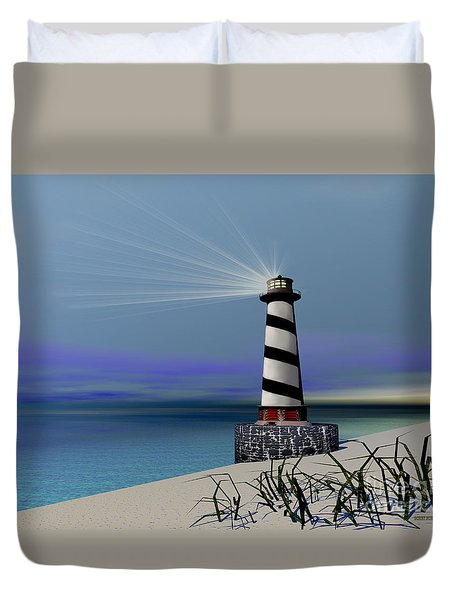 Beacon Duvet Cover by Corey Ford