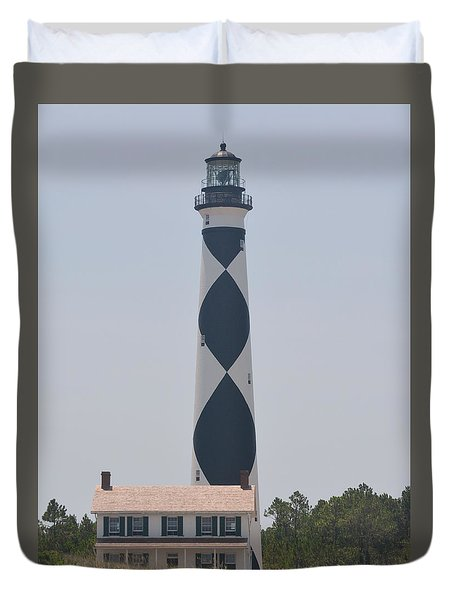Beacon On Cape Lookout Duvet Cover
