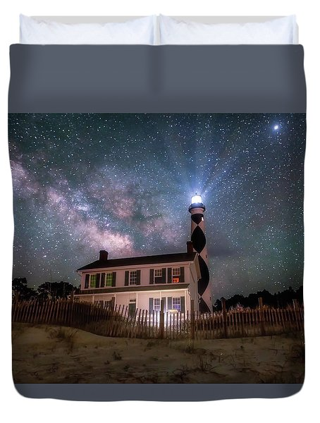 Duvet Cover featuring the photograph Beacon by Russell Pugh