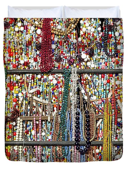 Beads In A Window Duvet Cover