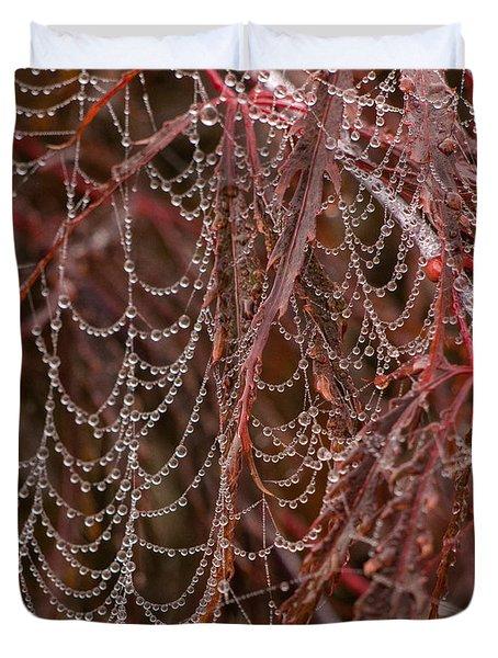 Beads Of Raindrops Duvet Cover