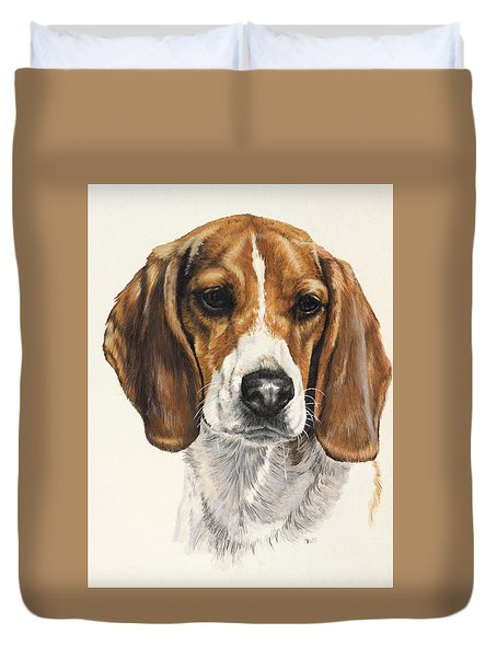 Beagle Duvet Cover by Barbara Keith