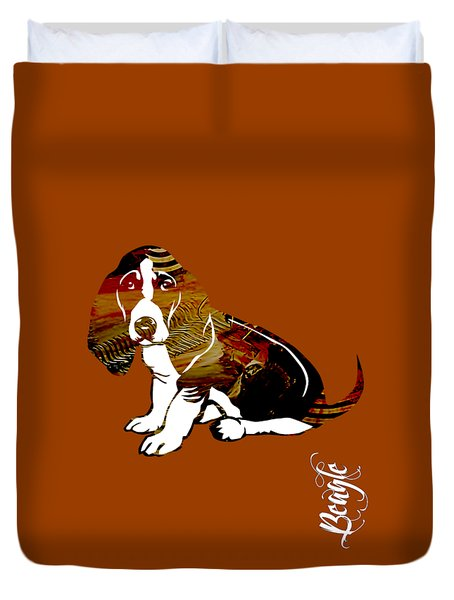 Beagle Collection Duvet Cover by Marvin Blaine