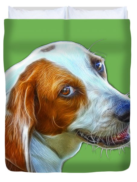 Beagle Dog Art- 6896 -wb Duvet Cover by James Ahn