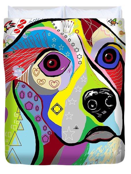 Beagle Duvet Cover by Eloise Schneider