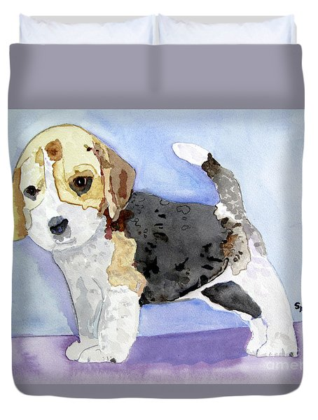 Beagle Pup Duvet Cover
