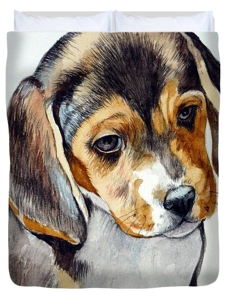 Beagle Puppy Duvet Cover