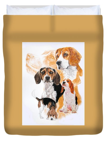 Beagle W/ghost Duvet Cover by Barbara Keith