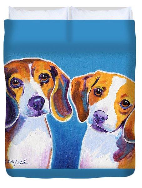 Beagles - Littermates Duvet Cover