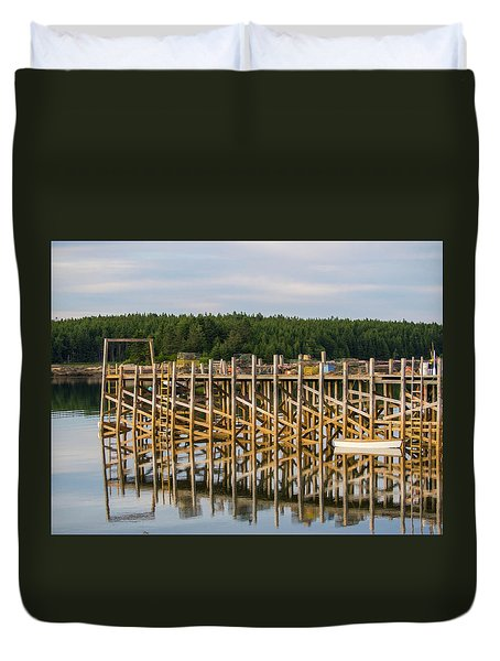 Duvet Cover featuring the photograph Beals Island, Maine  by Trace Kittrell