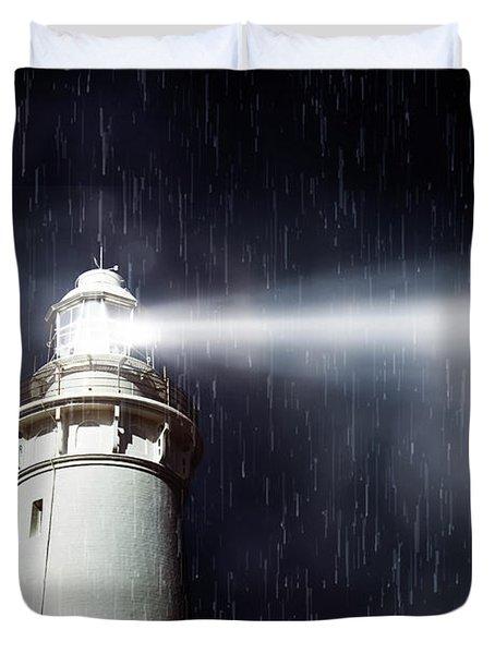 Beaming Lighthouse Duvet Cover