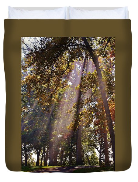 Beams Of Sunshine Duvet Cover
