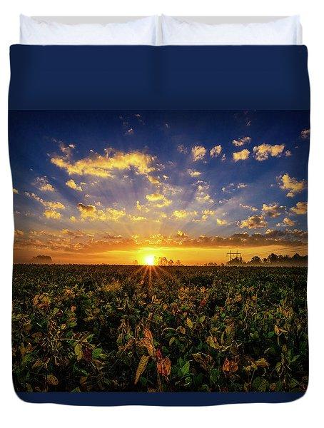 Bean Field Dawn Duvet Cover