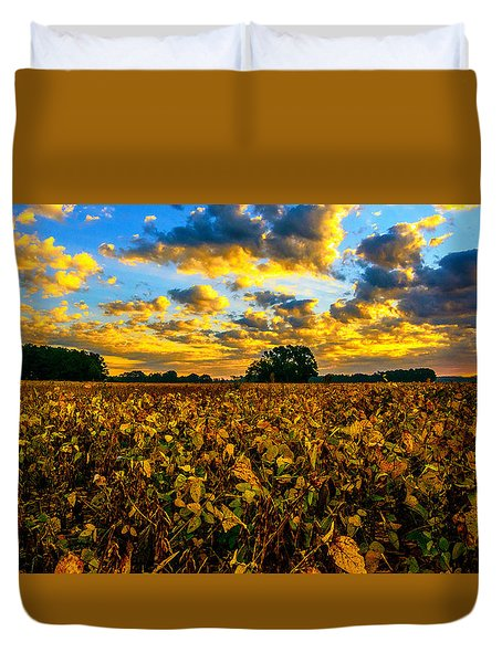 Bean Field Splendor  Duvet Cover by John Harding
