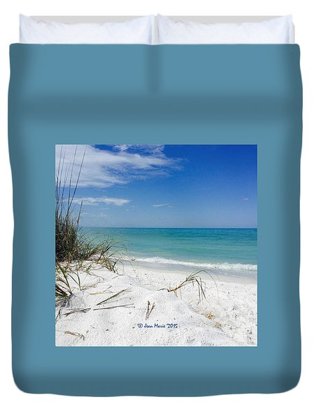 Bean Point, Anna Maria Island Duvet Cover by Jean Marie Maggi