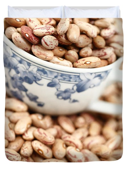Beans In A Cup Duvet Cover by Gaspar Avila
