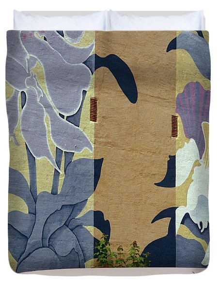 Duvet Cover featuring the photograph Beanstalk by Kenneth Campbell