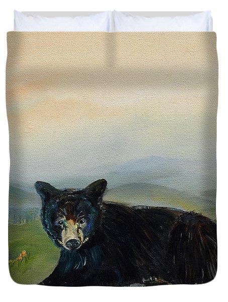 Bear Alone On Blue Ridge Mountain Duvet Cover