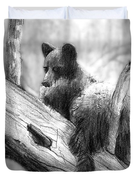 Bear Bottom Duvet Cover by Paul Sachtleben