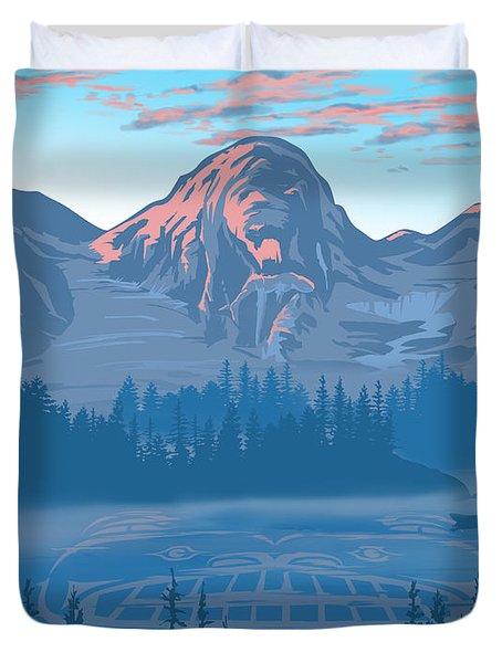 Bear Country Scenic Landscape Duvet Cover