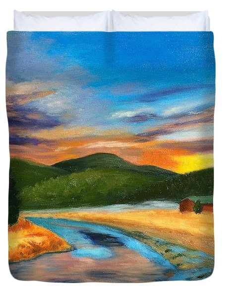 Bear Creek Colorado Duvet Cover