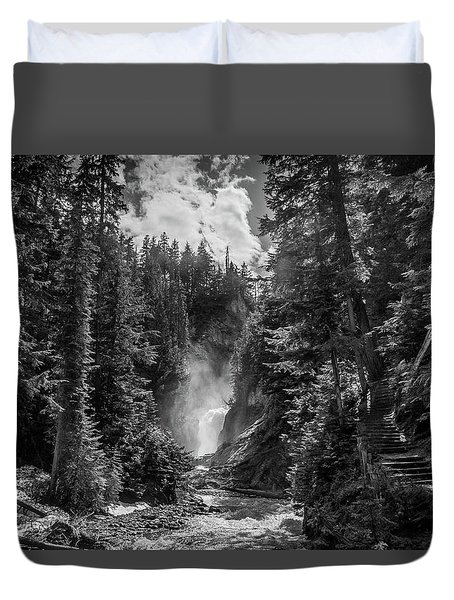 Bear Creek Falls As Well Duvet Cover