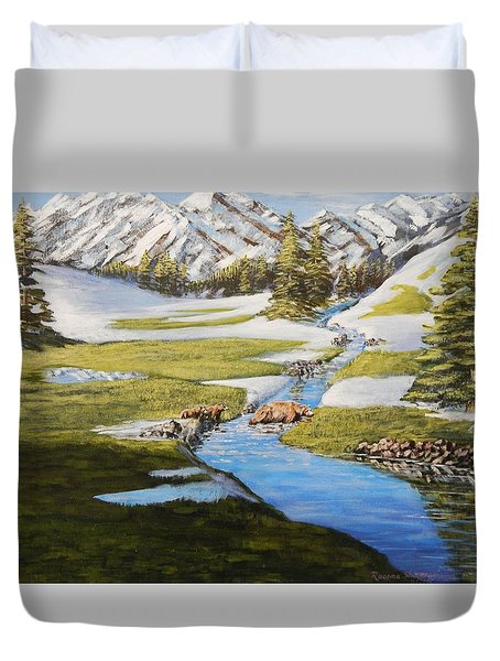 Bear Crossing Duvet Cover by Ruanna Sion Shadd a'Dann'l Yoder