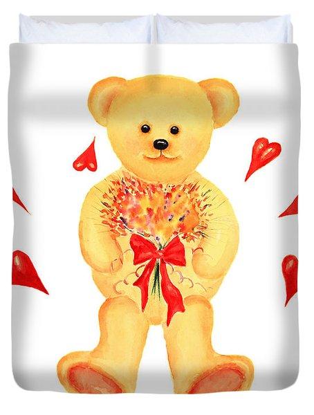 Bear In Love Duvet Cover