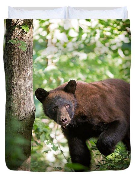 Bear In The Woods Duvet Cover
