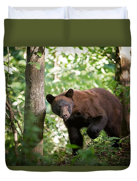 Bear In The Woods Duvet Cover