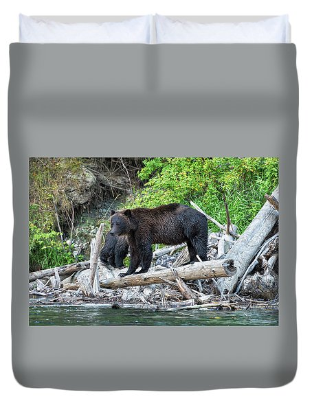 In The Great Bear Rainforest Duvet Cover