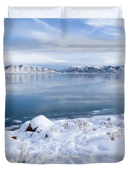 Bear Lake Beauty Large Canvas Art, Canvas Print, Large Art, Large Wall Decor, Home Decor Duvet Cover