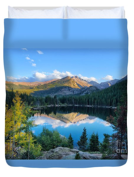 Bear Lake Reflection Duvet Cover