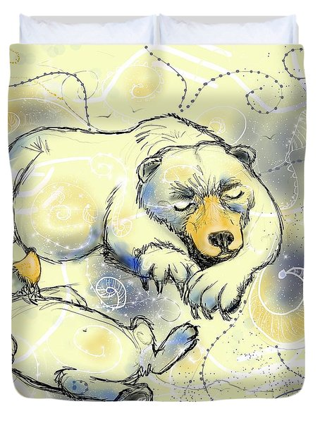 Bear-ly Sleeping Duvet Cover