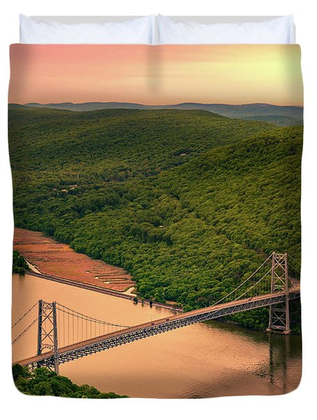 Bear Mountain Bridge Duvet Cover