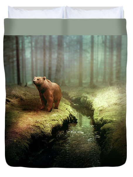 Bear Mountain Fantasy Duvet Cover
