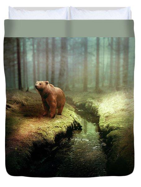 Bear Mountain Fantasy Duvet Cover