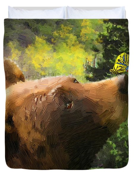 Bear - N - Butterfly Effect Duvet Cover