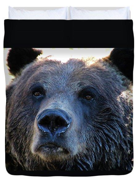 Bear On Grouse Duvet Cover