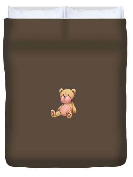 Bear Pink Duvet Cover