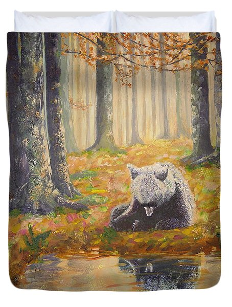 Bear Reflecting Duvet Cover