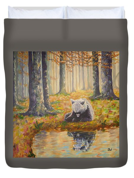 Bear Reflecting Duvet Cover